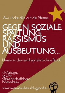 Am 1. Mai alle auf die Straße: Gegen soziale Spaltung, Rassismus und Ausbeutung!
