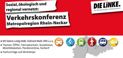 Ökologisch, Sozial, regional vernetzt - LINKE Positionen zur Verkehrspolitik in der Region Rhein-Neckar