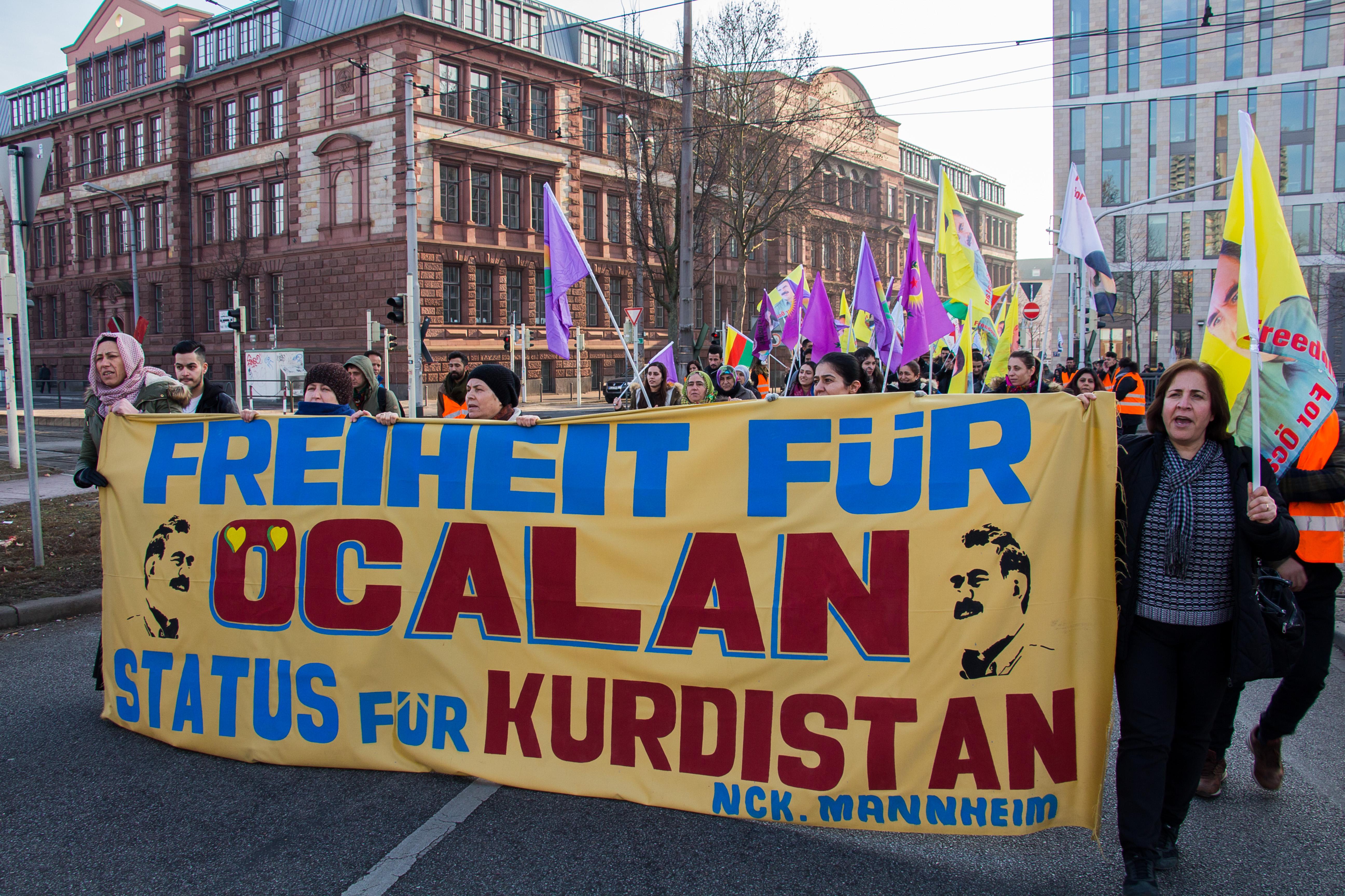 Kurden Demo Mannheim
