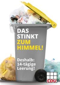 Das stinkt zum Himmel: CDU fordert Erhöhung der Müllgebühren!