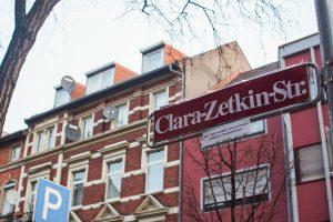 8. März: Feministische Kunstaktion in Mannheim Jungbusch zum Frauen*kampftag