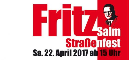TIPP: Fritz-Salm-Straßenfest: Kundgebung zur feierlichen Einweihung der Fritz-Salm-Straße - 22.04.2017