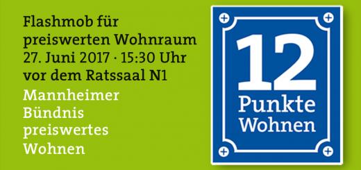 """12-Punkte-Programm zum Wohnen für Mannheim """"Bündnis für preisgünstiges Wohnen"""""""