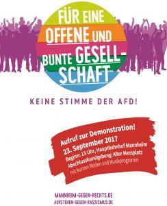 """Bundestagswahl: Demo """"Keine Stimme der AfD"""" in Mannheim angekündigt"""