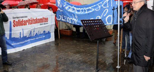 Es reicht! Kundgebung gegen die Zerschlagung des Mannheimer General Electric-Standorts