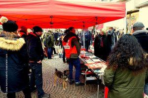 Lautstarker antifaschistischer Protest in Bingen: Die AfD war nicht willkommen [mit Bildergalerie und Video]