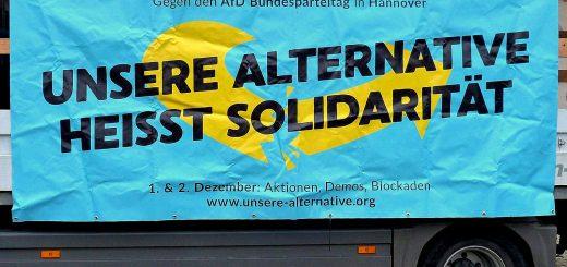 Tausende demonstrierten am 02.12.17 gegen den AfD-Bundesparteitag in Hannover