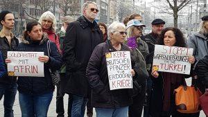 Demonstration: Nein zum Krieg! Rüstungsexporte an die Türkei stoppen! Solidarität mit Afrin!