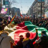 Demonstration und Kundgebung gegen den Krieg der Türkei am Samstag 14. April in Mannheim