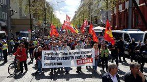 """Initiative """"Nein zum Krieg - Solidarität mit Afrin"""" demonstriert für den Rückzug türkischer Streitkräfte aus Nordsyrien [mit Video und Bildergalerie]"""