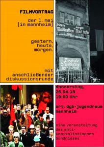 Filmvortrag: Der 1. Mai [in Mannheim] - gestern, heute, morgen @ DGB Jugendraum | Mannheim | Baden-Württemberg | Deutschland