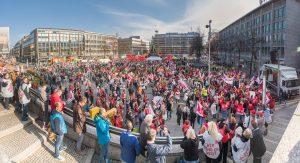 Mannheim/Ludwigshafen: 5500 bei Warnstreik im öffentlichen Dienst [mit Bildergalerie]