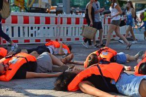 Eindringliche Ankündigung – Spontanaktion zur Seebrücke Demo am Samstag