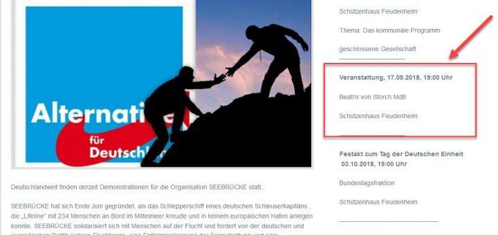 "AfD-KV Mannheim diffamiert und diskreditert ""Seebrücke"" und ""Mannheim sagt Ja! e.V."""