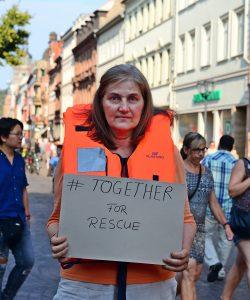 """""""SEEBRÜCKE – Schafft sichere Häfen!"""" - DAY ORANGE in Heidelberg und Mannheim (mit Fotogalerie)"""