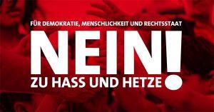 """Kundgebung: Rhein-Neckar sagt NEIN zu """"Hass und Hetze"""" und sagt JA zu """"Demokratie, Menschlichkeit und Rechtsstaat"""""""