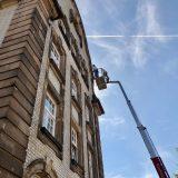 Überwachungskameras am Alten Messplatz montiert