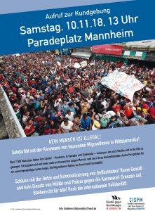 """Kundgebung""""Solidarität mit der Karawane von mehreren tausend MigrantInnen in Mittelamerika!"""""""