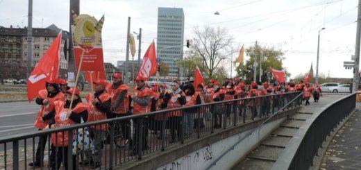 Reinigungsfrauen streiken – auch in Mannheim