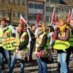 Kundgebung in Heidelberg / ver.di ruft zu Warnstreik auf (mit Bildergalerie)