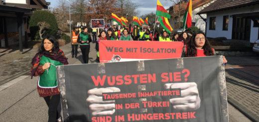 Kurdischer Friedensmarsch auf dem Weg von Mannheim nach Strasbourg - Eklat! Polizei beendet gewaltsam kurdischen Friedensmarsch in Karlsruhe