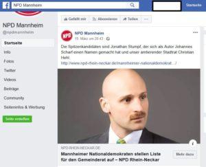 NPD nominiert Rassisten als Spitzenkandidaten für die Kommunalwahl in Mannheim