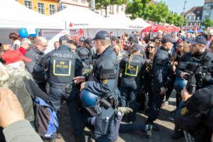 1. Mai Mannheim: Polizeieinsatz beim Gewerkschaftsfest – viel Rauch um nichts