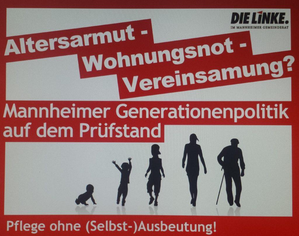 Altersarmut – Wohnungsnot – Vereinsamung? Generationenpolitik auf dem Prüfstand