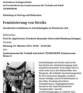 Feminisierung von Streiks @ Landesmuseum für Technik und Arbeit | Mannheim | Baden-Württemberg | Deutschland
