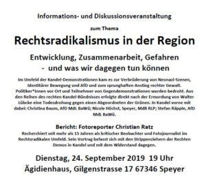 Rechtsradikalismus in der Region / KIM-Reporter hält Vortrag in Speyer/Rhein
