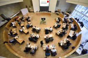 Gemeinderat Mannheim während einer Sitzung Im Stadthaus N1