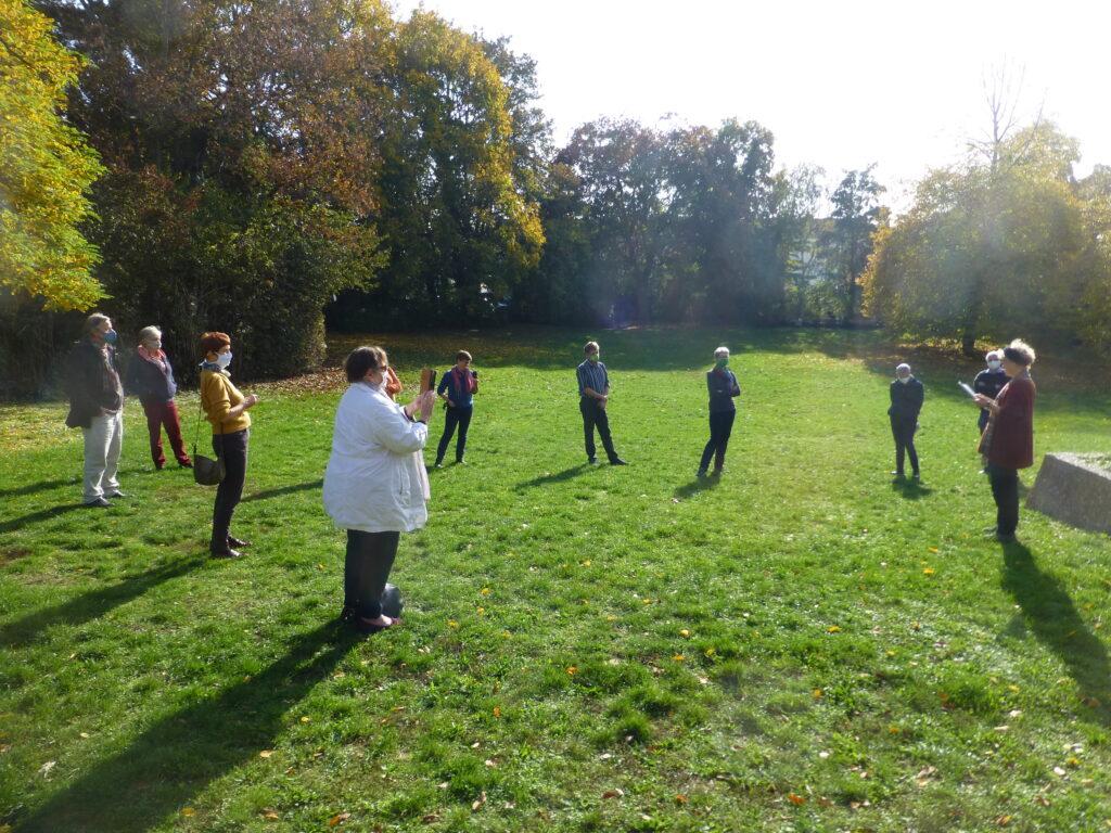 Eindrucksvolle Lesung im zukünftigen Rosa-Luxemburg-Park
