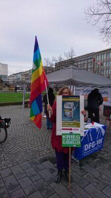 """Aktionstag auf dem Paradeplatz """"Abrüsten statt Aufrüsten - Für eine neue Entspannungspolitik"""""""