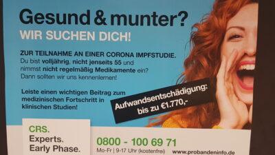 Mannheimer Klinische Testfirma führt Medikamentenstudie zu Corona-Impfstoff durch