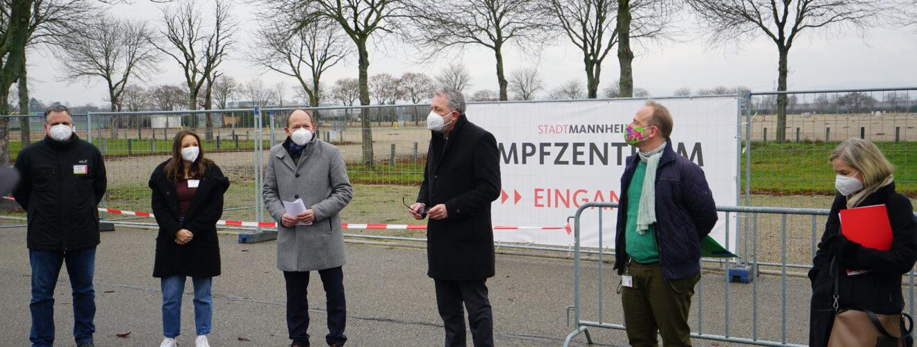 Impfzentrum Mannheim nimmt Betrieb auf