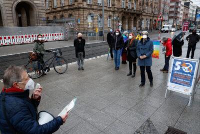"Kundgebung der Friedensbewegung: ""Bundesregierung muss Atomwaffenverbotsvertrag beitreten"""