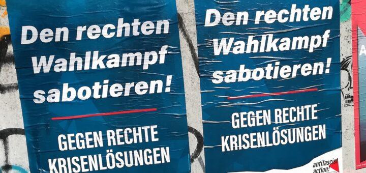 """Den rechten Wahlkampf sabotieren"""