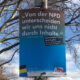 Die kuriose Reise einiger Anti-AfD Plakate