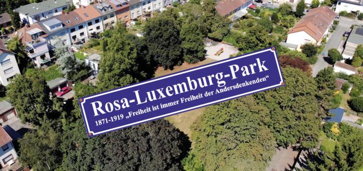 150 Jahre Rosa Luxemburg - Einweihung Rosa-Luxemburg-Park