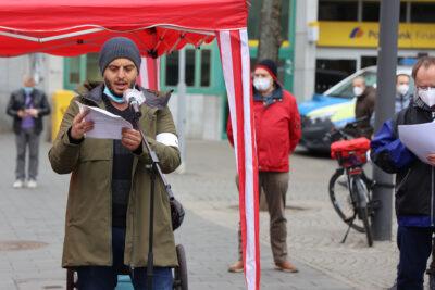 ZeroCovid Kundgebung – Solidarität in Zeiten der Pandemie [mit Videobeitrag]