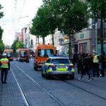 Brennende Israelfahnen und Pfefferspray: Eskalation bei FreePalestine-Demo in Mannheim [mit Video und Bildergalerie]