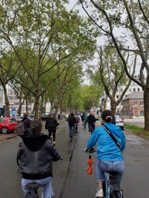 """Fahrraddemo zum Aktionstag """"Zügige Aufnahme geflüchteter Menschen!"""""""