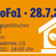 Wohnungspolitisches Forum - Mittwoch 28.07.2021 - Kick-off Veranstaltung auch als Livestream